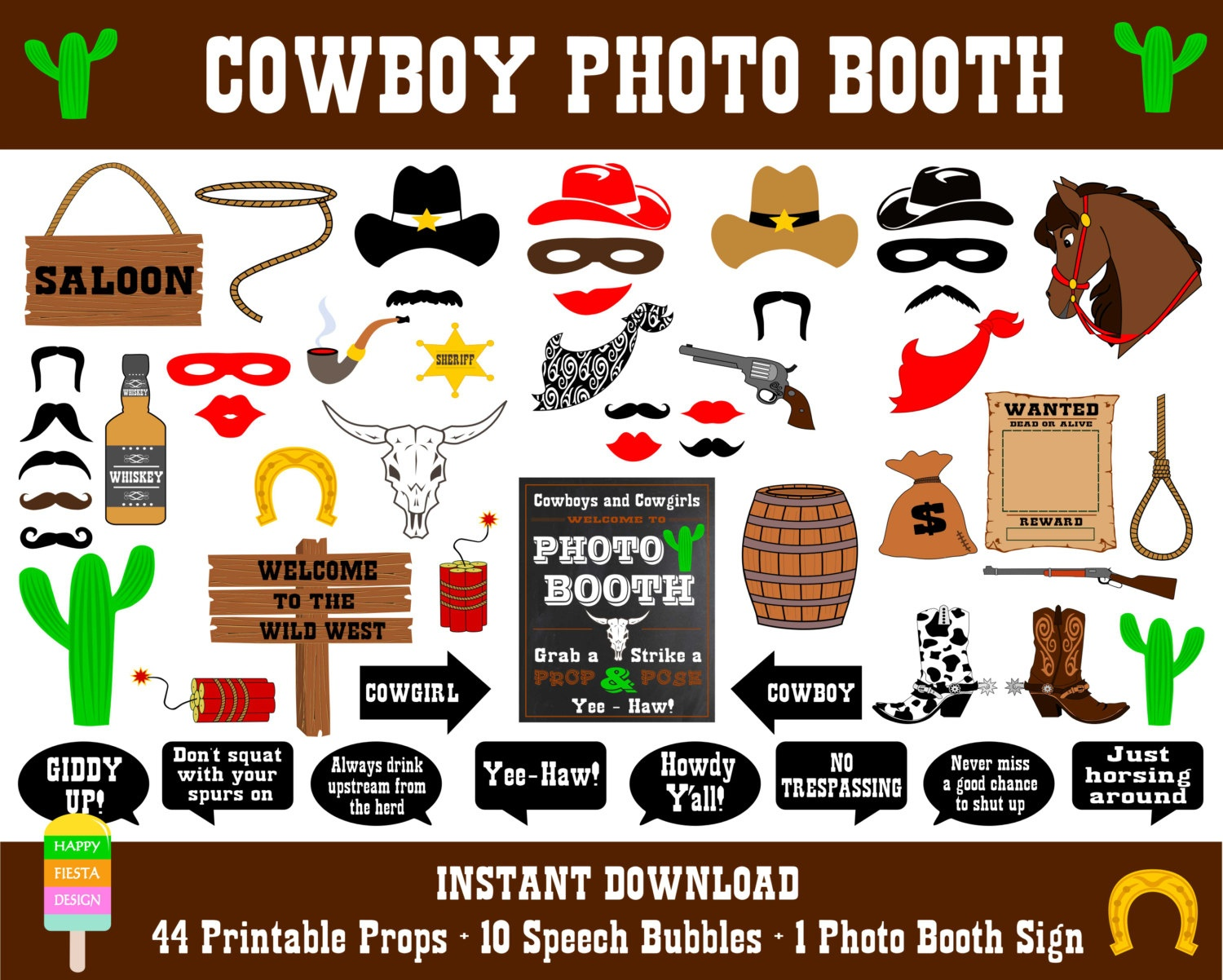 Best 50+ Western Photo Booth Props Printables - Freshomedaily - Free Printable Western Photo Props