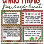 Best Ever Christmas Scavenger Hunt   Play Party Plan   Free Printable Christmas Riddle Games