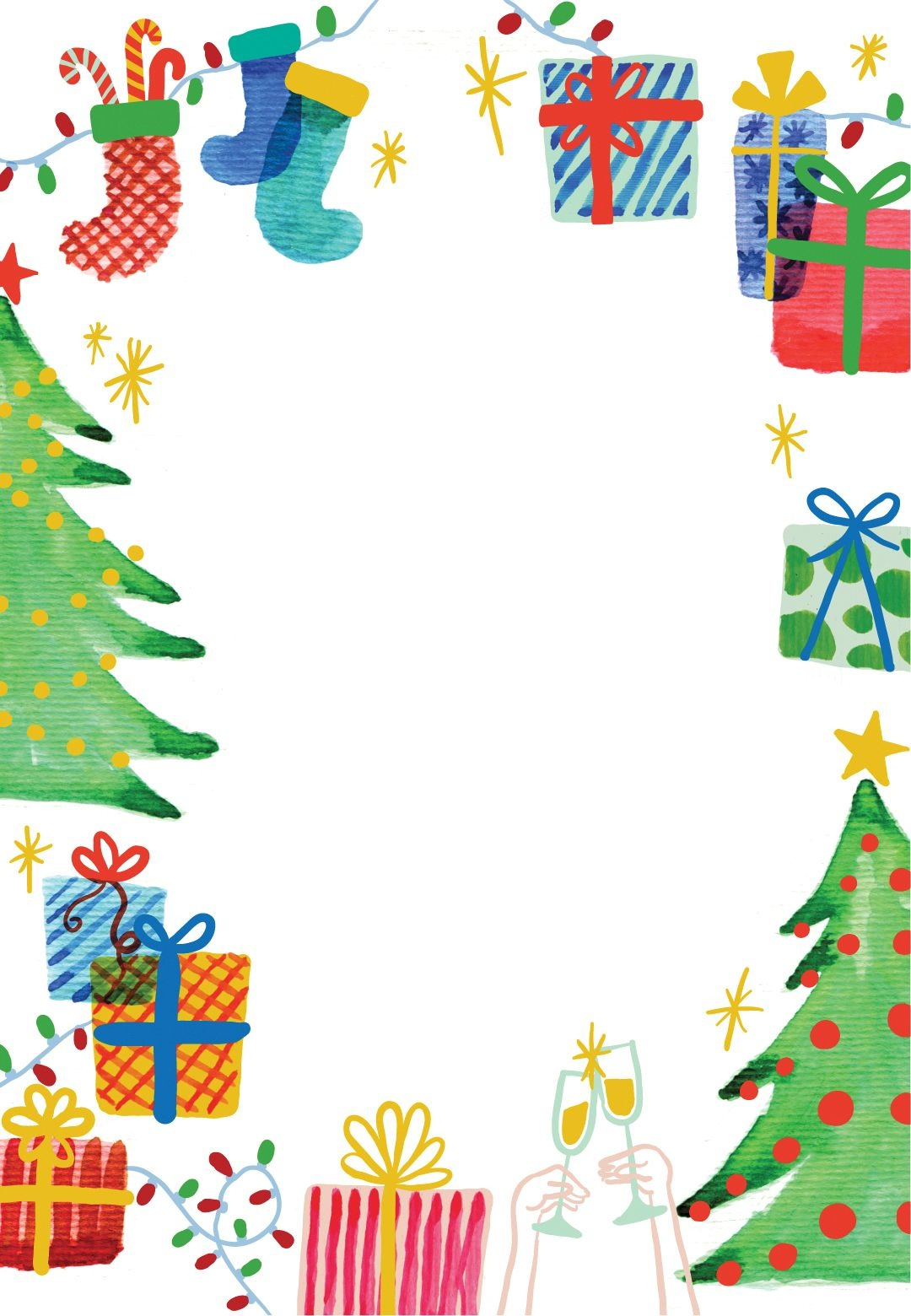 Best Holiday Ever - Free Printable Christmas Invitation Template - Free Printable Christmas Clip Art