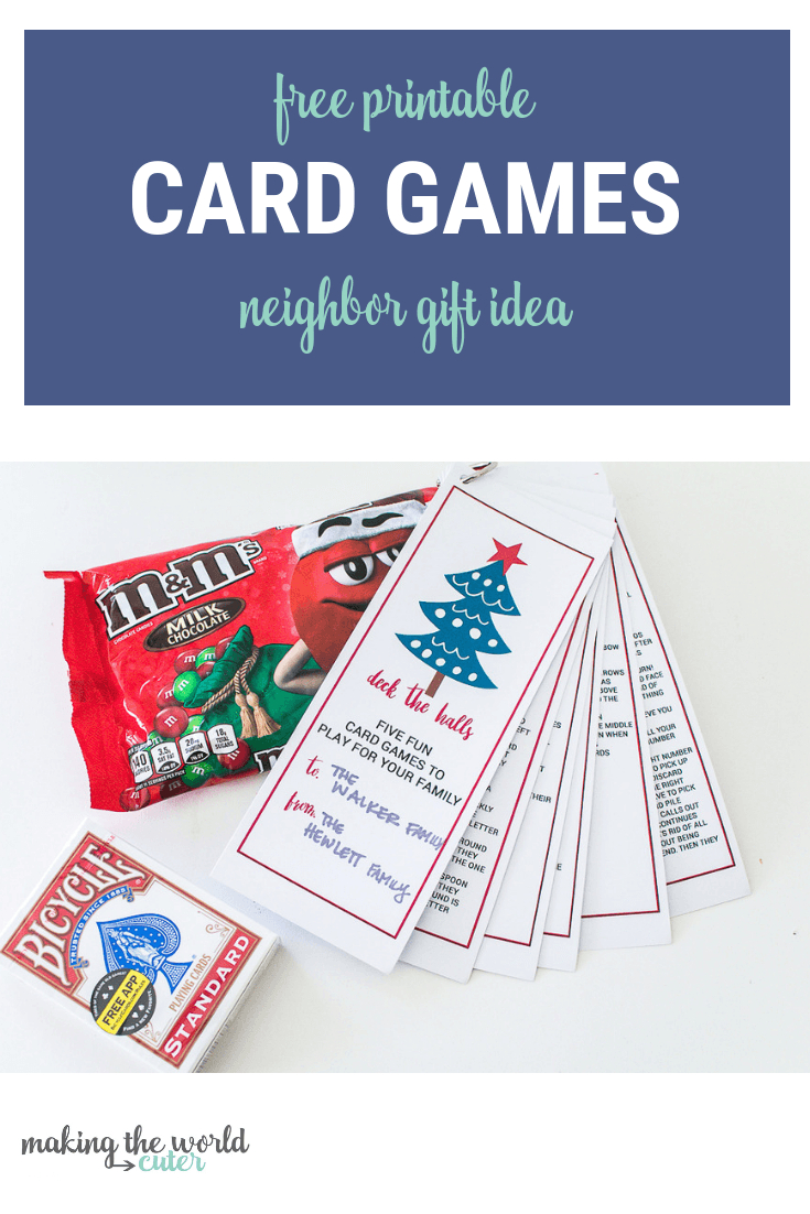 Best Neighbor Gift Playing Cards And Free Printable Game Instructions - Free Printable Deck Of Cards