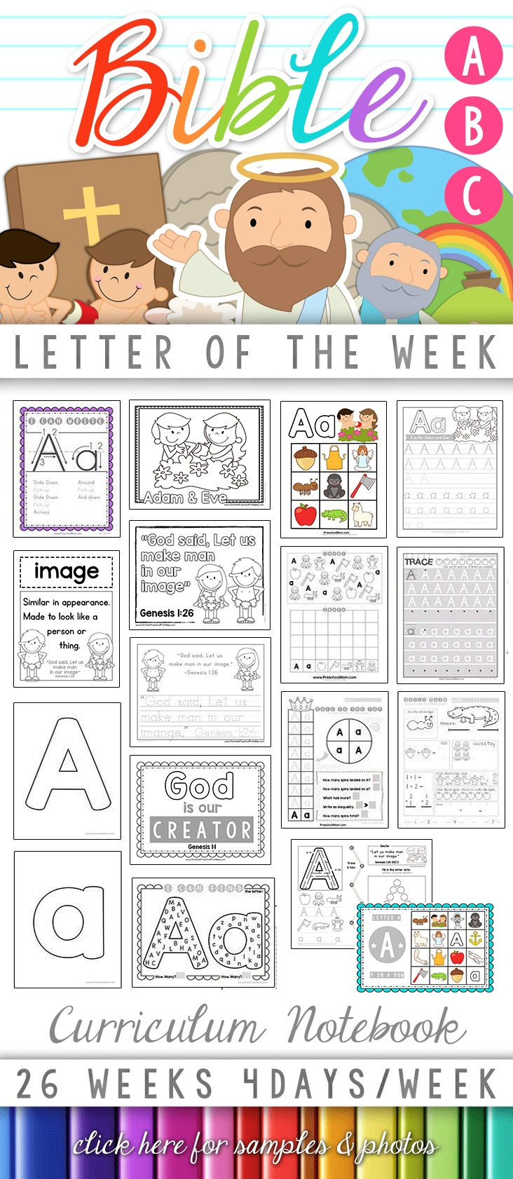 Bible Abc Printables - Christian Preschool Printables - Bible Lessons For Toddlers Free Printable