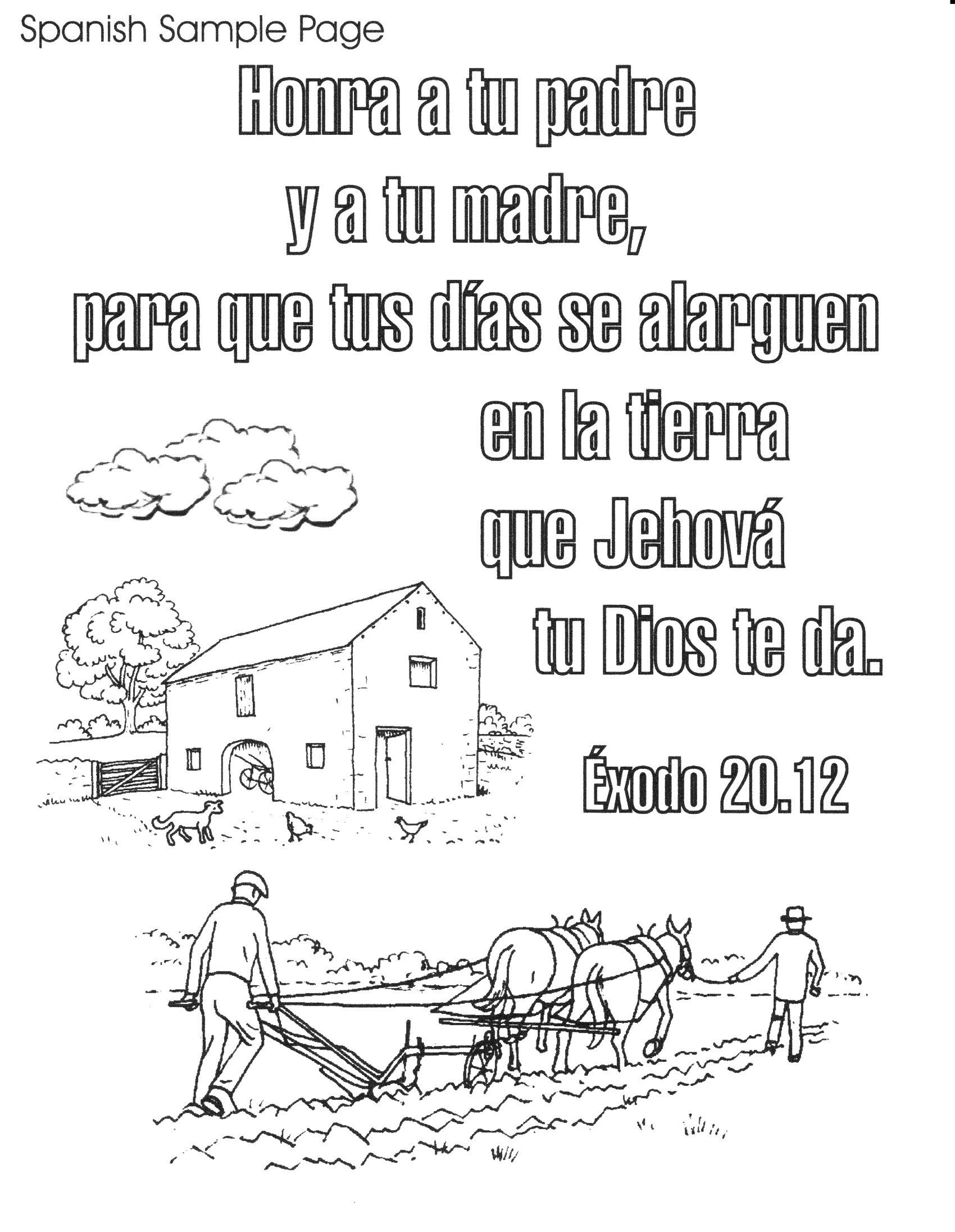 Bible Spanish Coloring Pages Free Printable | Spanish Bible Verse - Free Printable Spanish Books