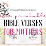 Bible Verses For Mothers   Free Printable!   Printables And Inspirations   Free Printable Inspirational Bible Verses