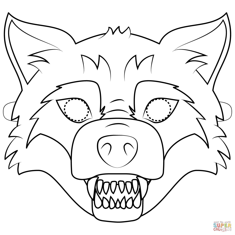 Big Bad Wolf Mask Coloring Page   Free Printable Coloring Pages - Free Printable Wolf Face Mask