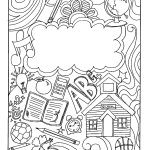 Binder Cover Coloring Page Binder Cover Printable Coloring Page   Free Printable Binder Covers To Color