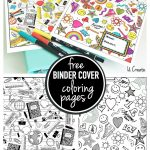 Binder Cover Coloring Pages   Free Printable Binder Covers To Color