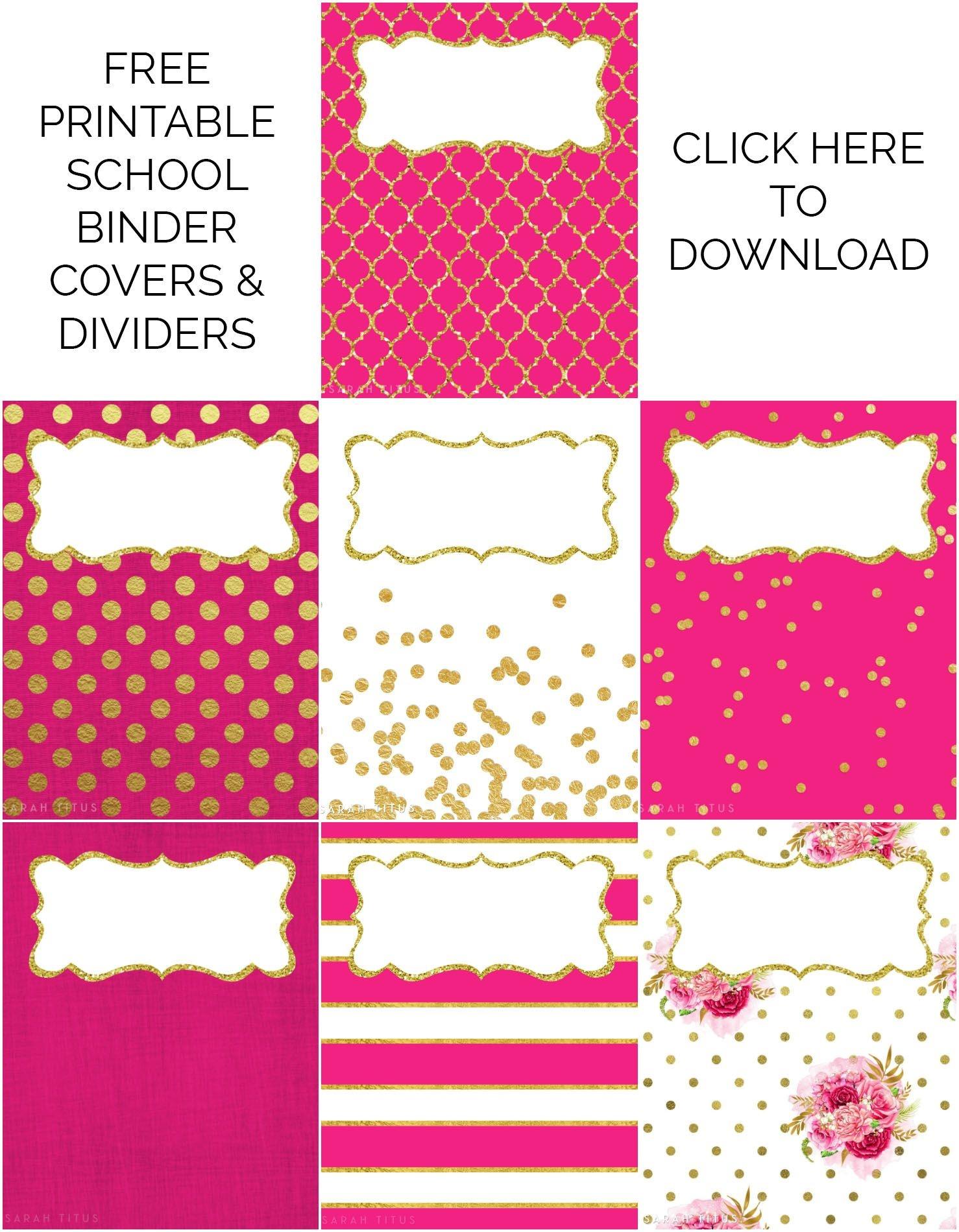 Binder Covers / Dividers Free Printables | Plans | Binder Covers - Free Printable Binder Covers