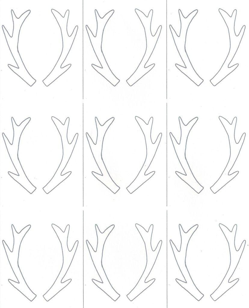 Birch Slice Antler Ornaments + Printable | Reindeer | Christmas - Reindeer Antlers Template Free Printable