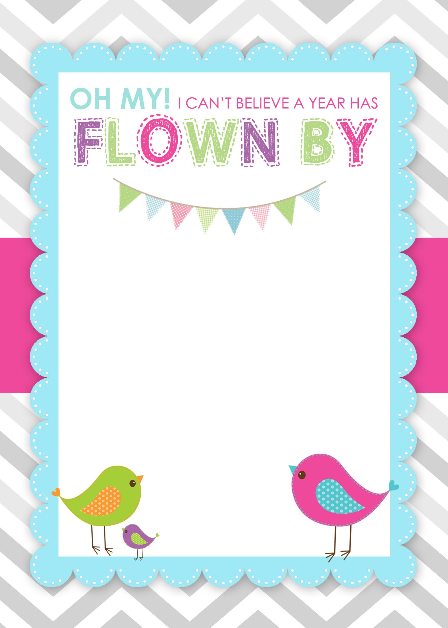 Bird Birthday Party With Free Printables - How To Nest For Less™ - Free Printable Birthday Invitation Cards