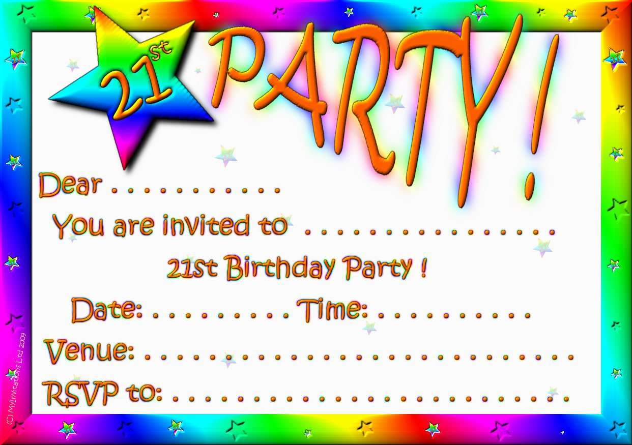 Birthday Invitation Card Maker Free Printable — Birthday Invitation - Free Printable Personalized Birthday Invitation Cards