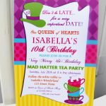 Birthday Invitation. Mad Hatter Tea Party Birthday Invitations   Mad Hatter Tea Party Invitations Free Printable