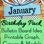 Birthday Pack: Bulletin Board Idea, Graph, Printable Crowns And Medals   Free Printable Birthday Graph