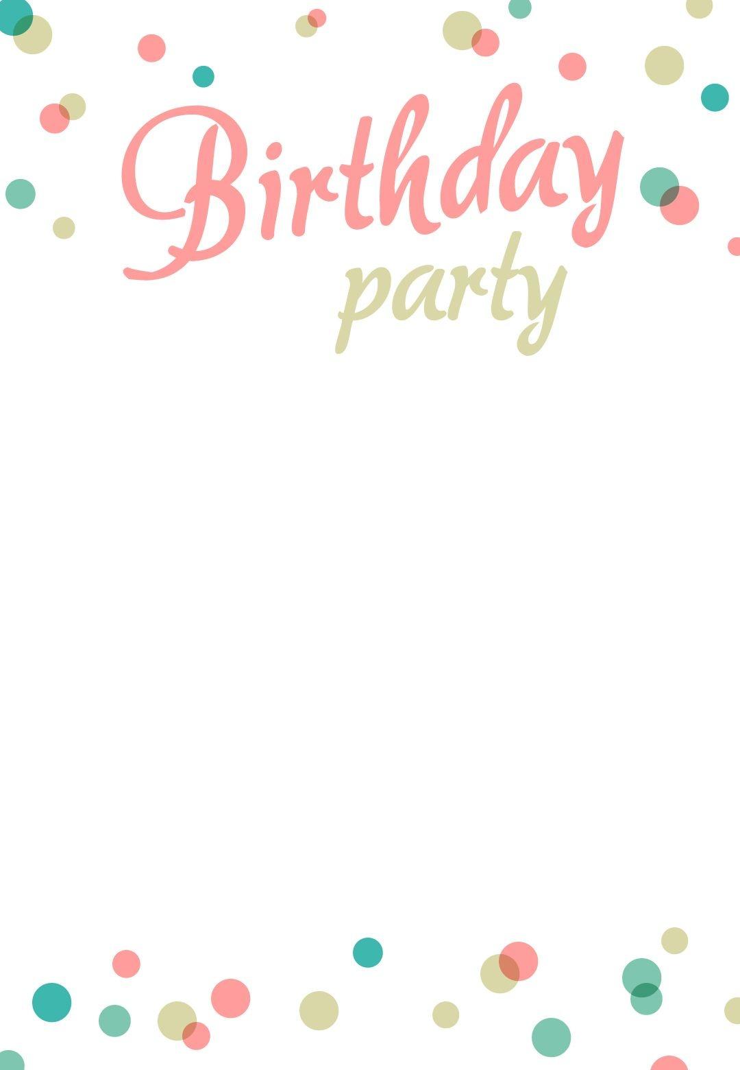 Birthday Party #invitation Free Printable | Images | Free Birthday - Free Printable Birthday Invitation Cards Templates