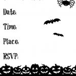 Black And White Halloween Invitations Printable   Halloween Invitations Free Printable Black And White