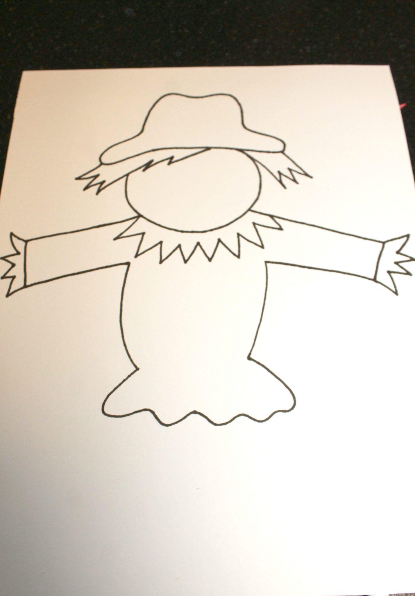 Black Glue Scarecrow Puppets | Preschoolers Activities | Scarecrow - Free Scarecrow Template Printable