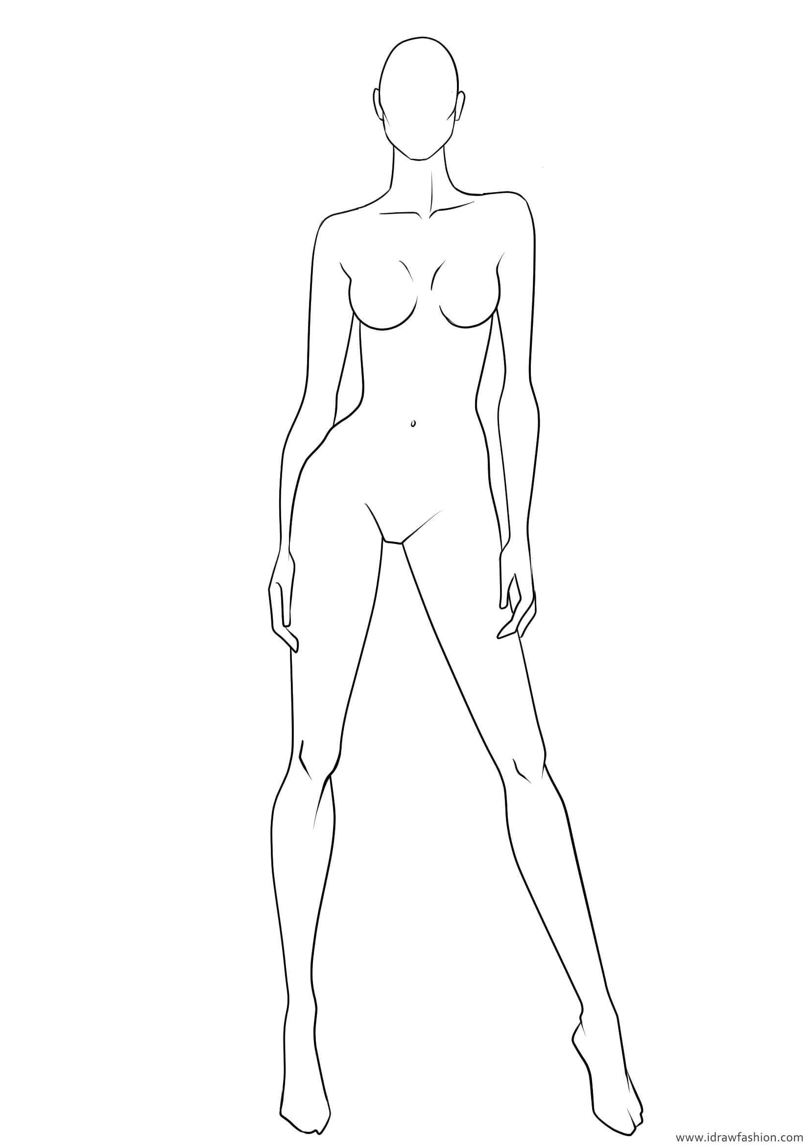 Blank Body Sketch At Paintingvalley | Explore Collection Of - Free Printable Fashion Model Templates