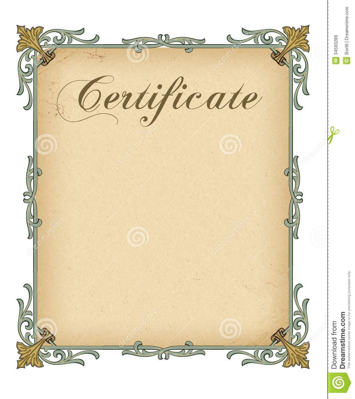 Blank Certificate Template - Tutlin.psstech.co - Commitment Certificate Free Printable