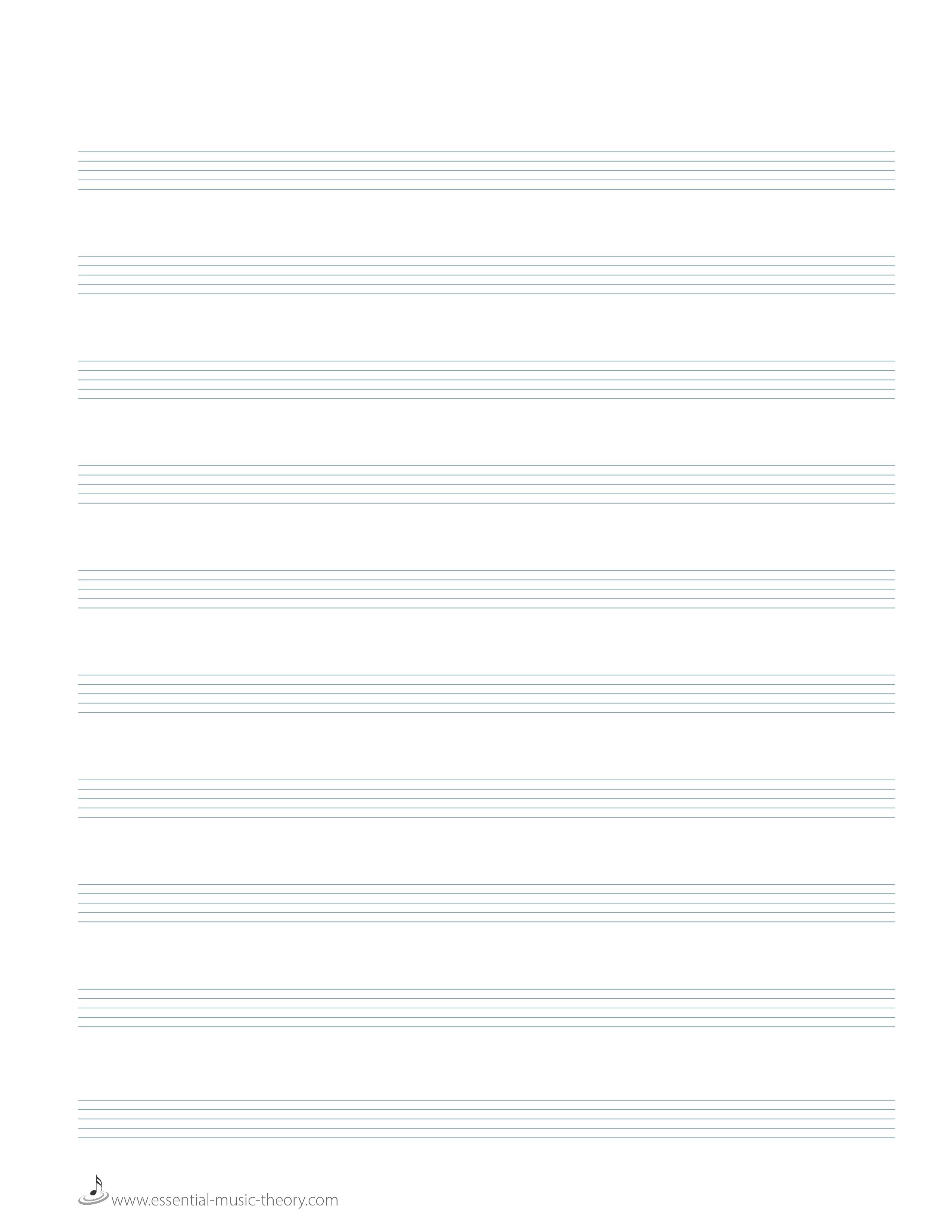 Blank Manuscript Paper - Free Printable Staff Paper