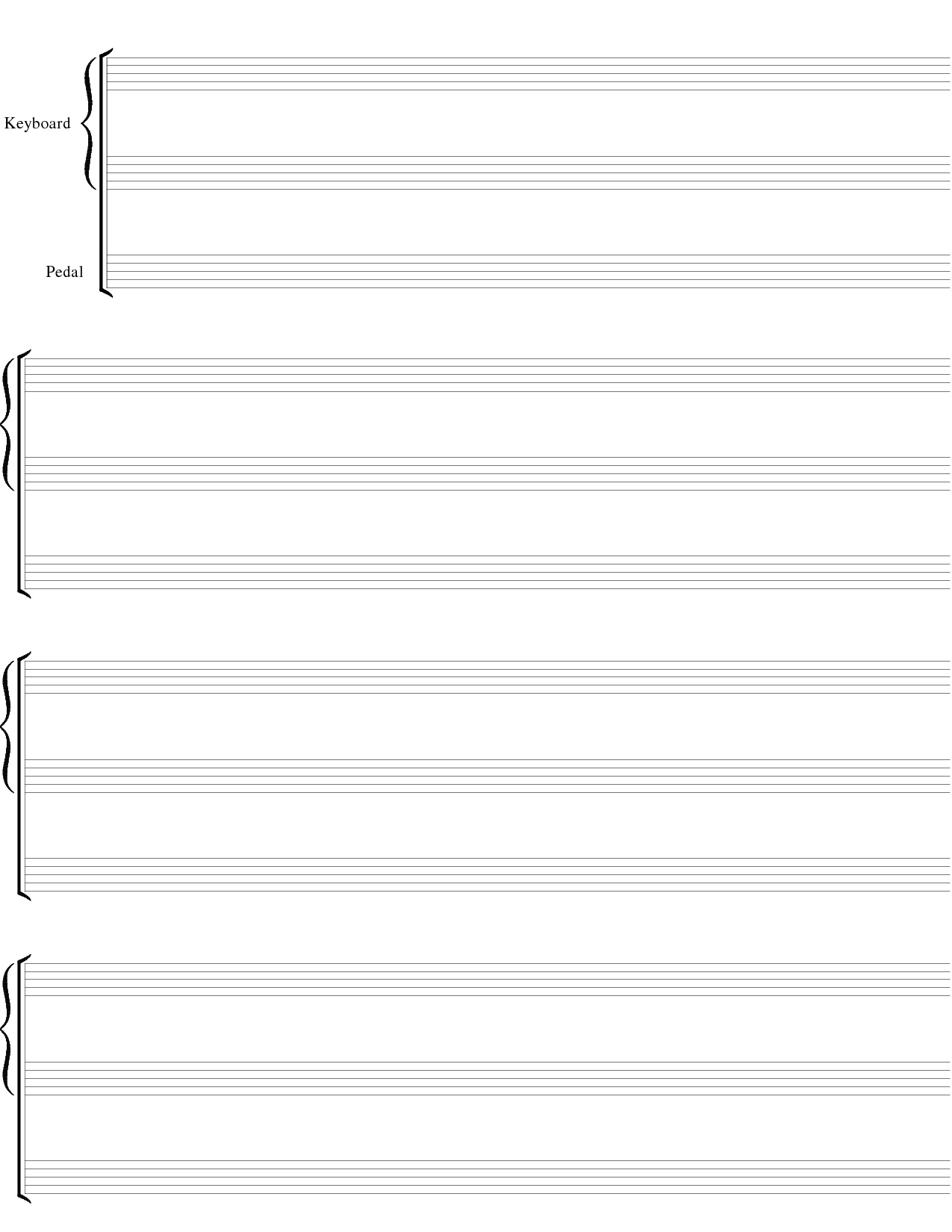 Blank Sheet Music Png & Free Blank Sheet Music Transparent - Free Printable Music Staff