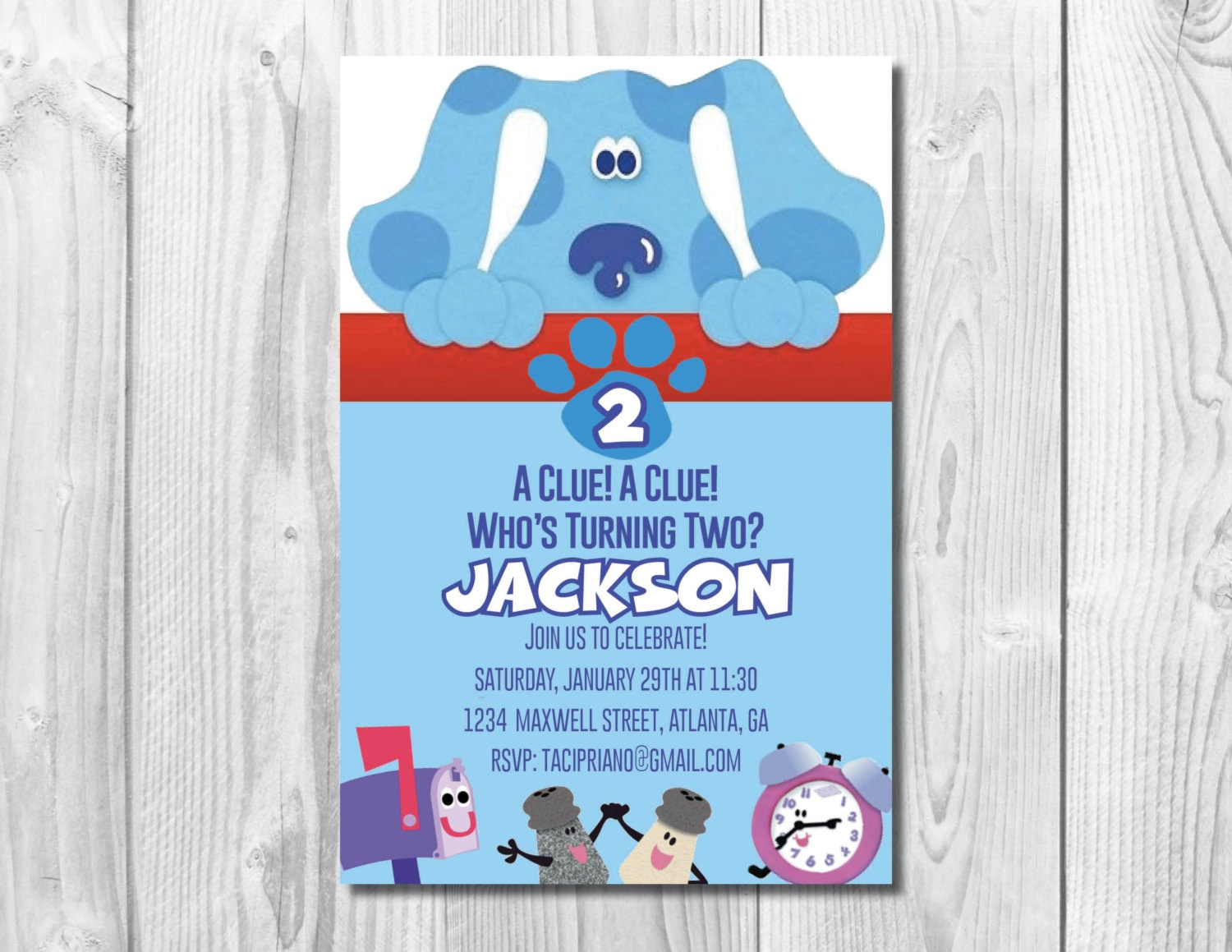 Blues Clues Birthday Party Invitation Blues Clues | Etsy - Blue's Clues Invitations Free Printable