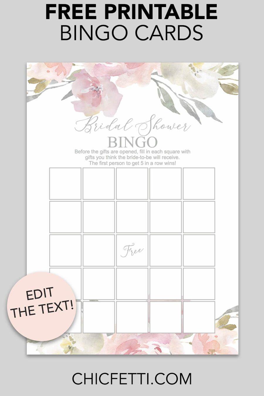 Blush Floral Printable Bridal Shower Bingo   Free Wedding Printables - Free Printable Bridal Shower Blank Bingo Games