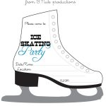 Bnute Productions: Free Printable Ice Skating Party Invitation   Free Printable Skating Invitations