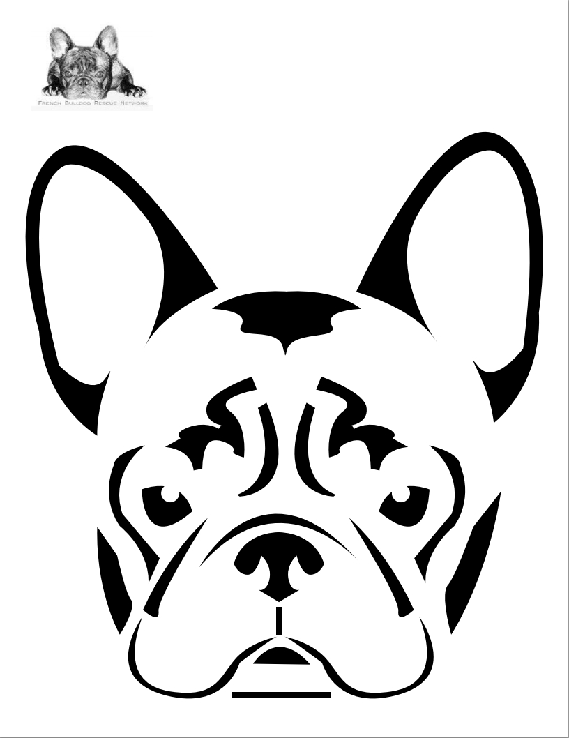 Boston Terrier Dog Face Free Halloween Pumpkin Carving Stencil - Free Printable Pumpkin Carving Templates Dog