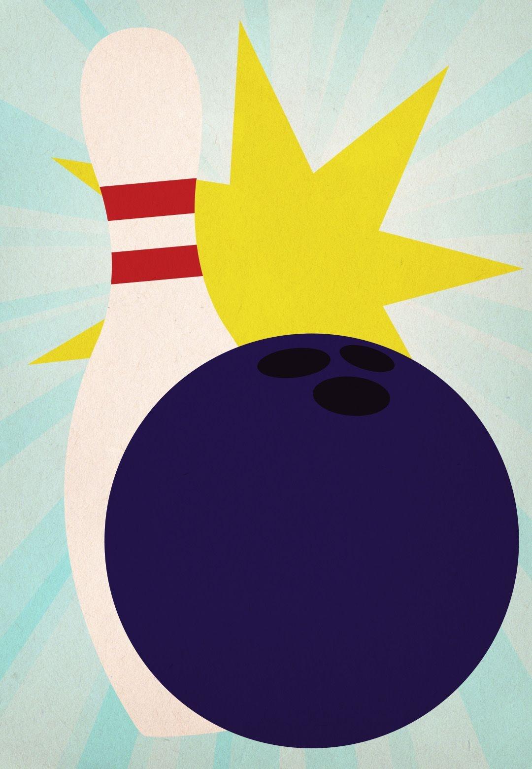 Bowling Birthday Party - Free Printable Birthday Invitation Template - Free Printable Bowling Ball Template