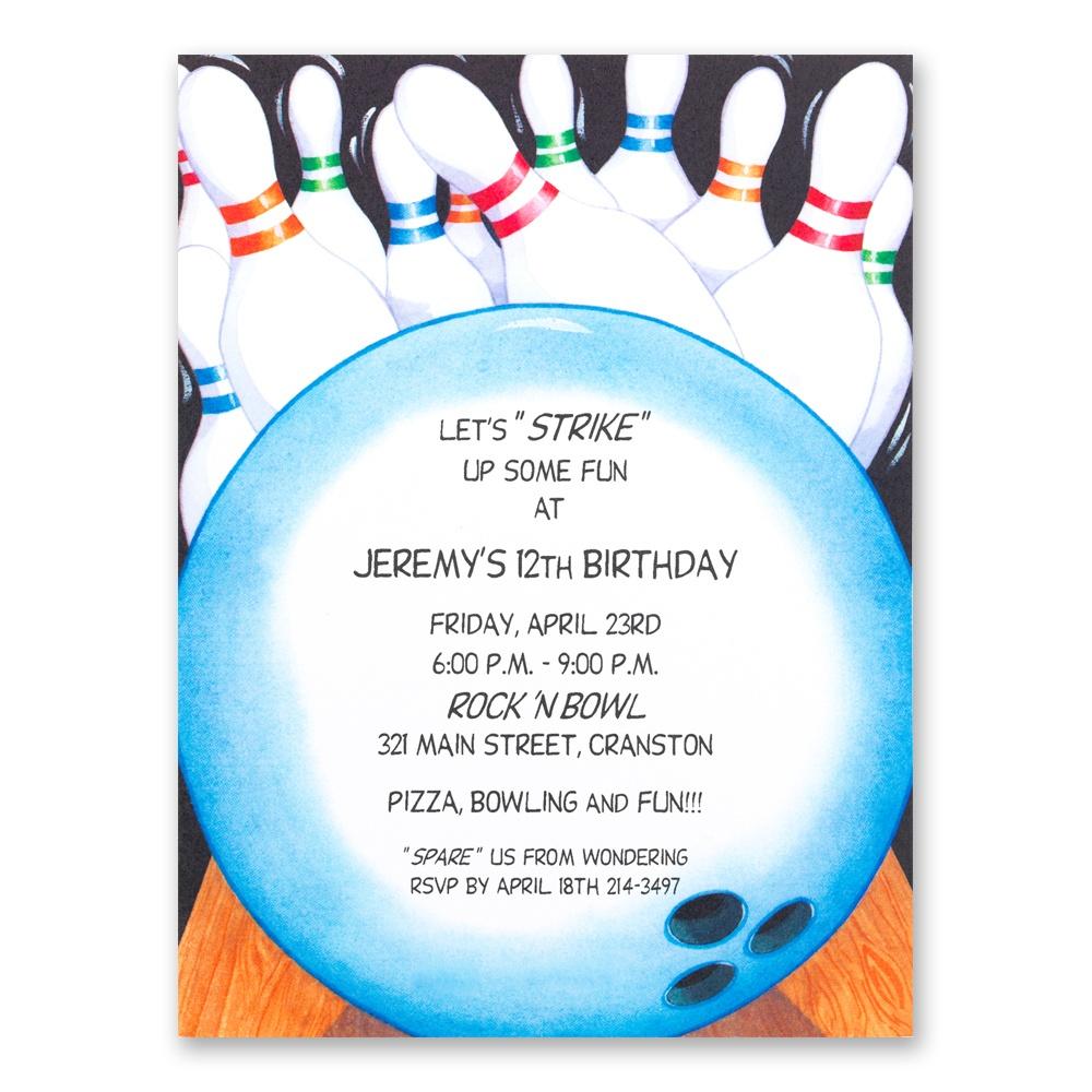 Bowling Birthday Party Invitations Free Printable - Free Printable Bowling Birthday Party Invitations