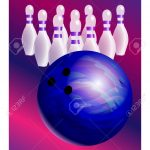 Bowling Poster Vector Template. Bowling Ball And Skittles Modern   Free Printable Bowling Ball Template