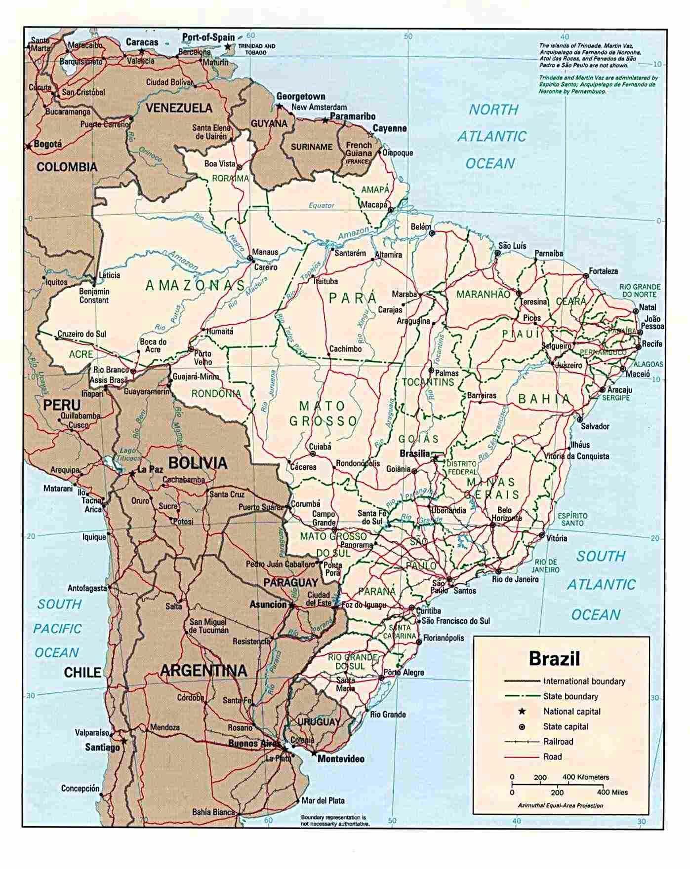 Brazil Maps | Printable Maps Of Brazil For Download - Free Printable Map Of Brazil