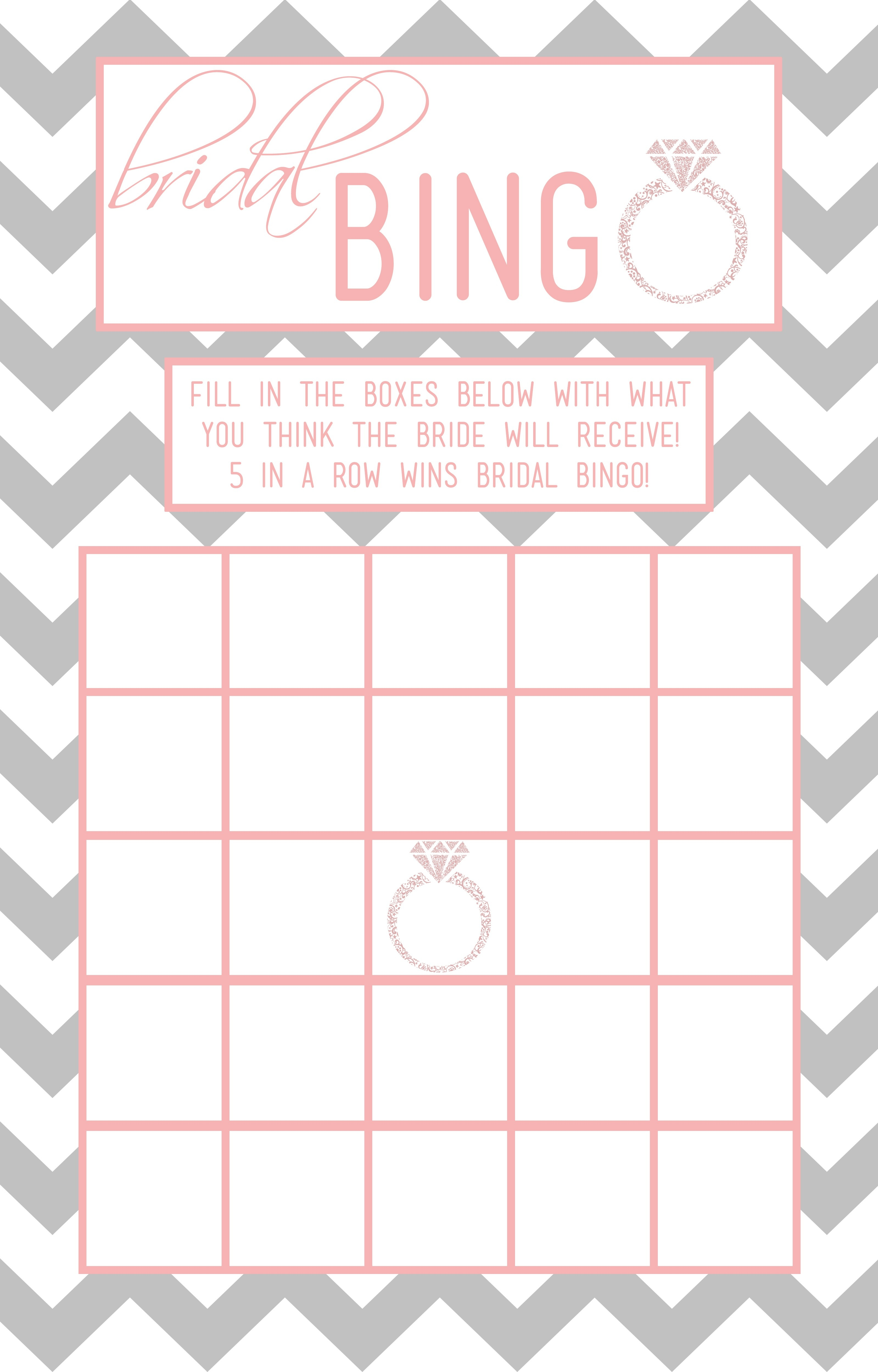 Bridal Shower Bingo Template   Madinbelgrade - Free Printable Bridal Shower Blank Bingo Games