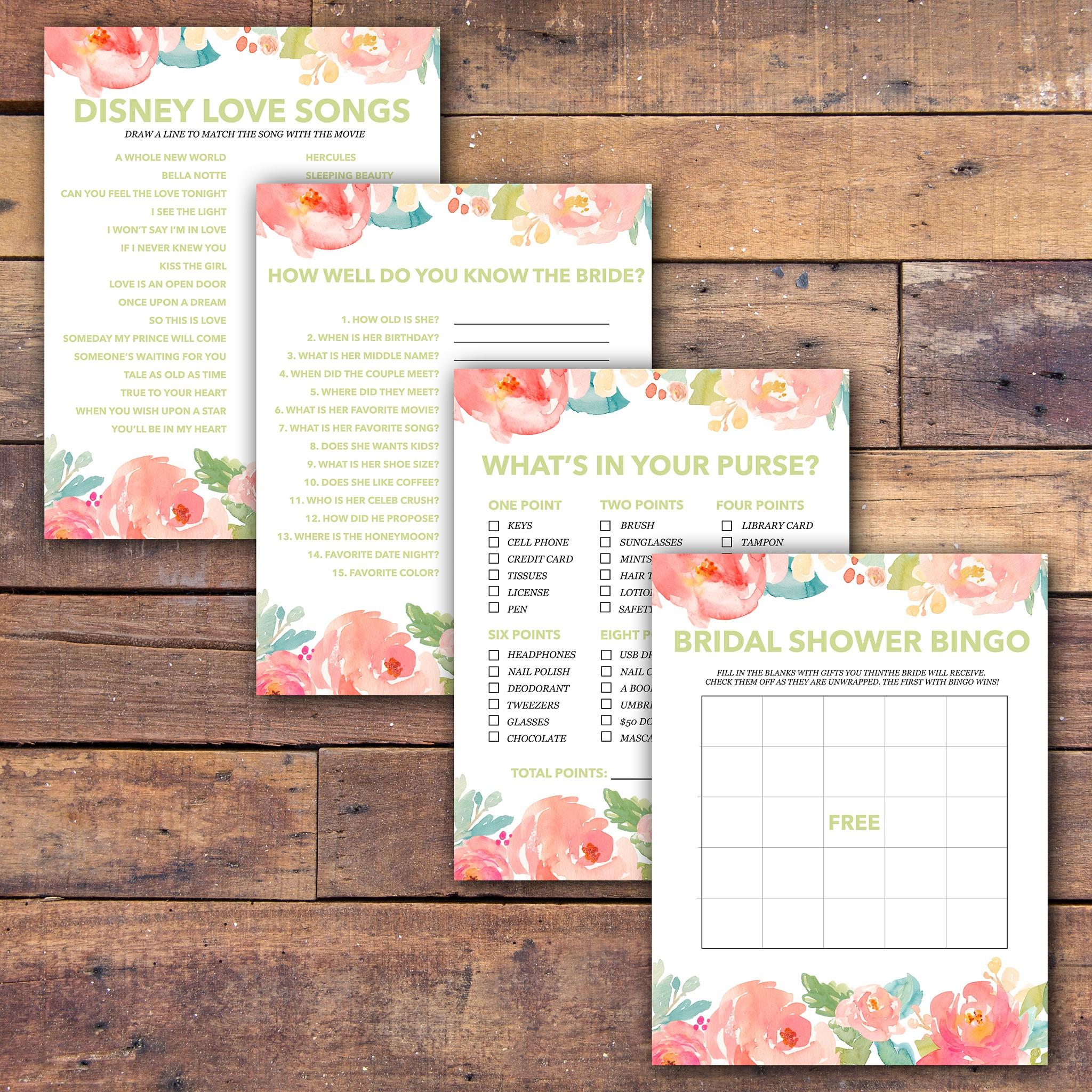 Bridal Shower Games Free Printable - - Samantha Jean Photograhy - Free Printable Bridal Shower Blank Bingo Games
