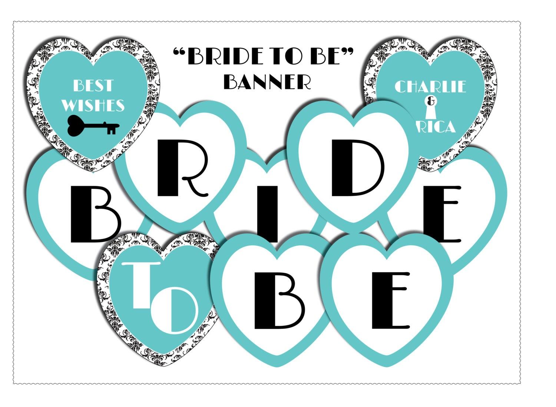 Bridal Shower Heart Banner-Miss To Mrs Banner-Digital Download   Etsy - Free Printable Miss To Mrs Banner