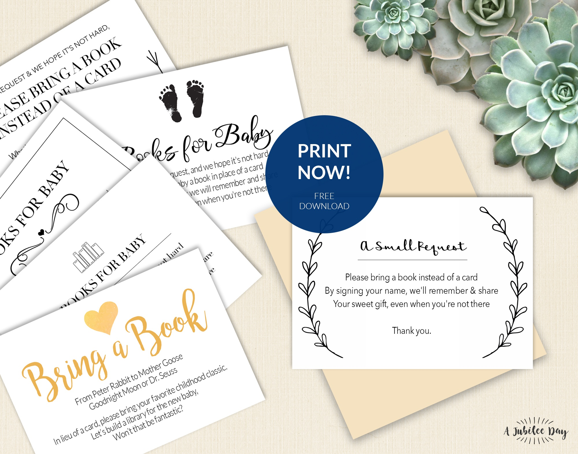 Bring A Book Instead Of Card (Free Printable!) - A Jubilee Day - Bring A Book Instead Of A Card Free Printable