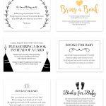 Bring A Book Instead Of Card (Free Printable | Book Theme Party   Bring A Book Instead Of A Card Free Printable