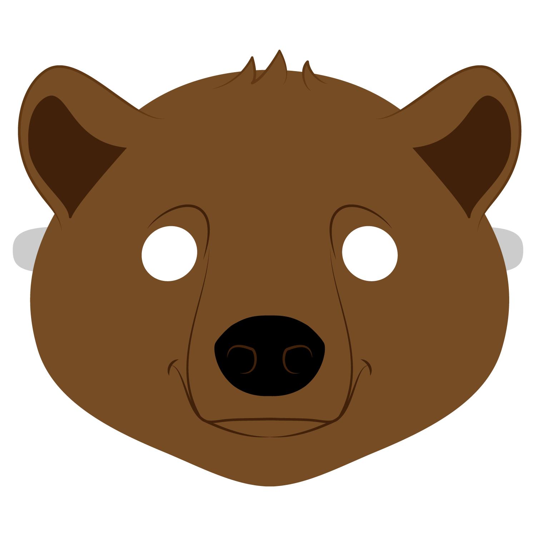 Brown Bear Mask Template   Free Printable Papercraft Templates - Free Printable Bear Mask