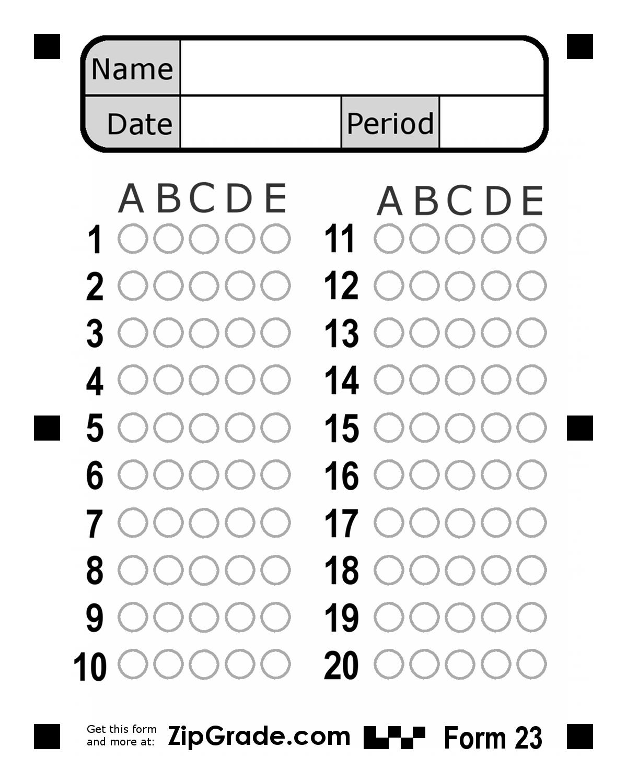 Bubble Answer Sheet 1-50   100 Question Bubble Answer Sheet - Free Printable Bubble Answer Sheets