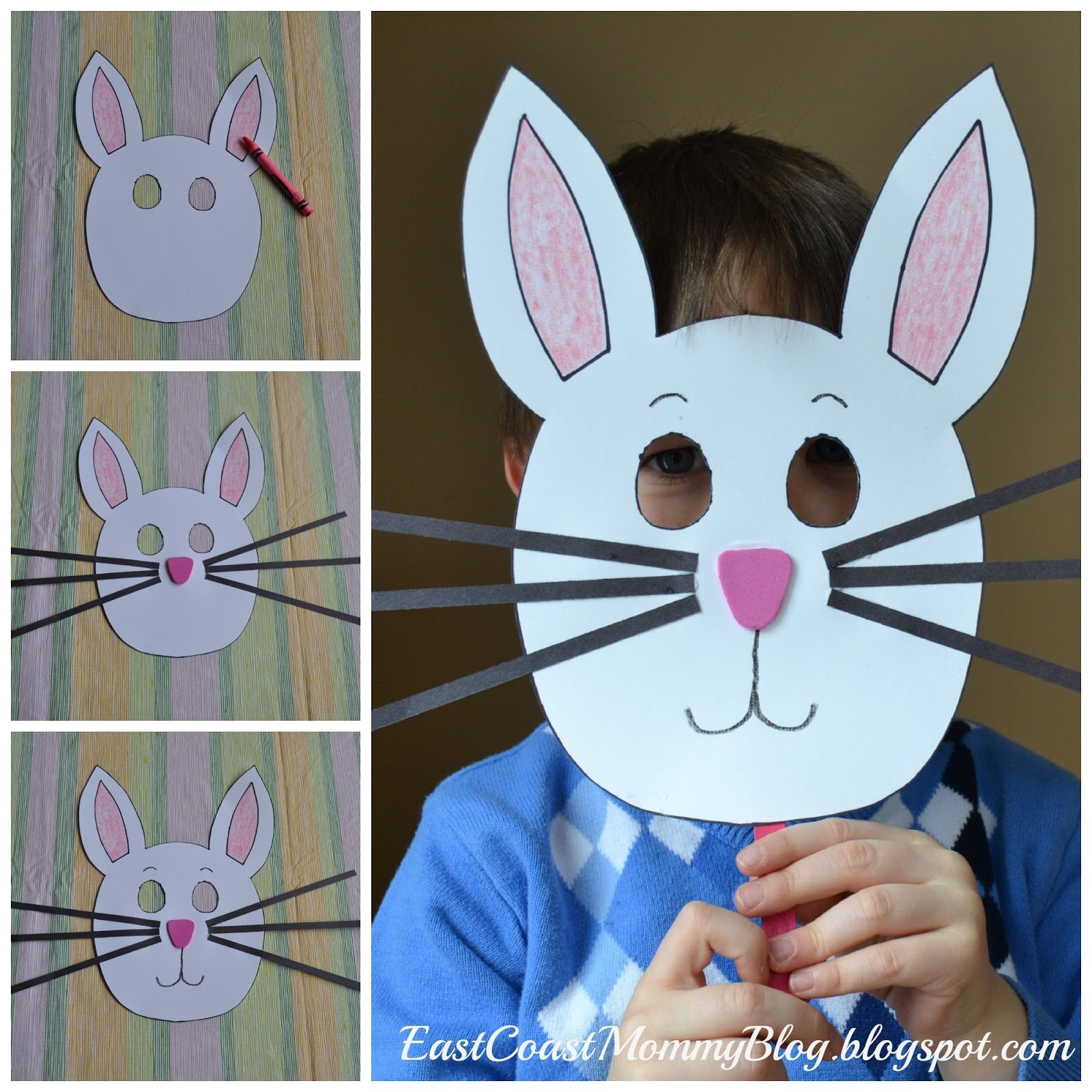 Bunny Mask {Preschool Craft} | Kid Blogger Network Activities - Free Printable Easter Masks
