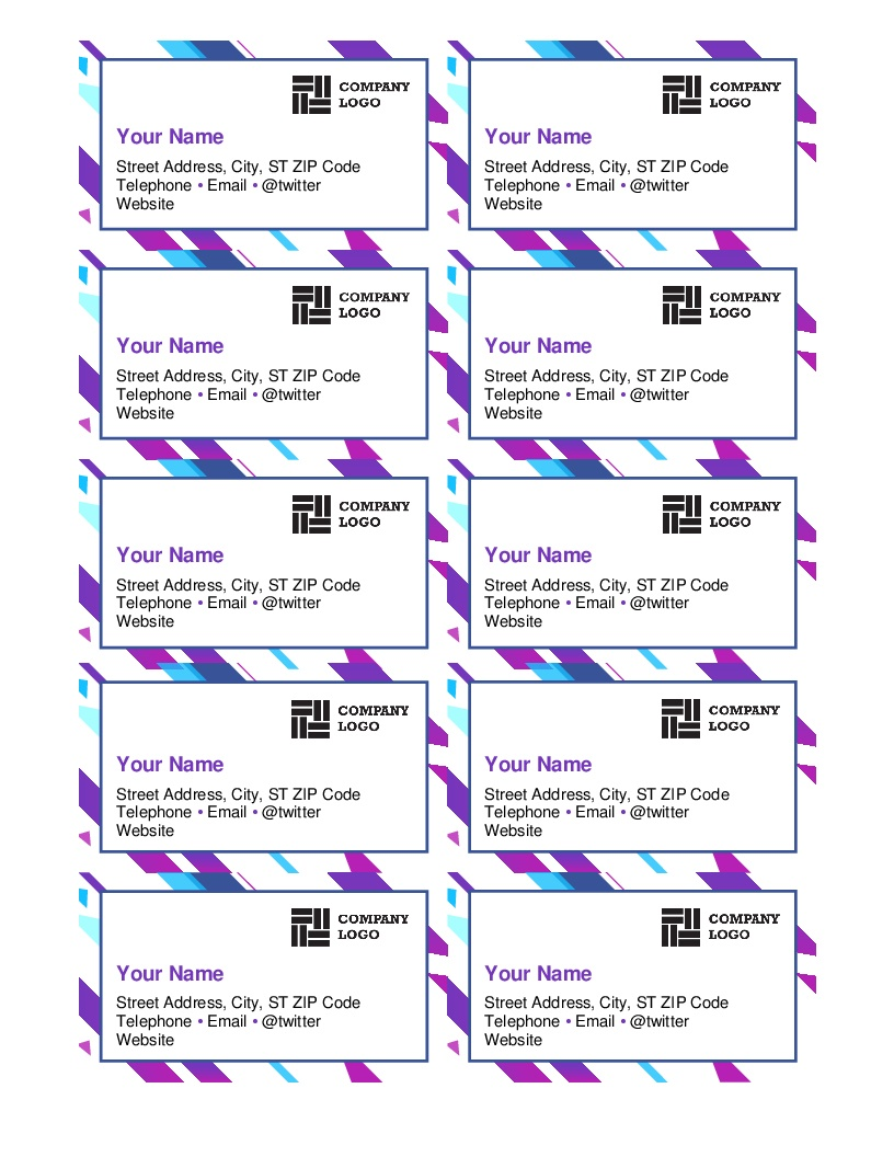 Business Cards - Office - Free Printable Business Card Templates For Word