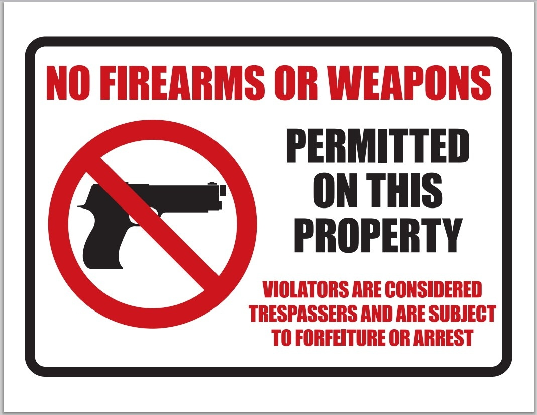 Buster's Blog: February 2013 - Free Printable No Guns Allowed Sign