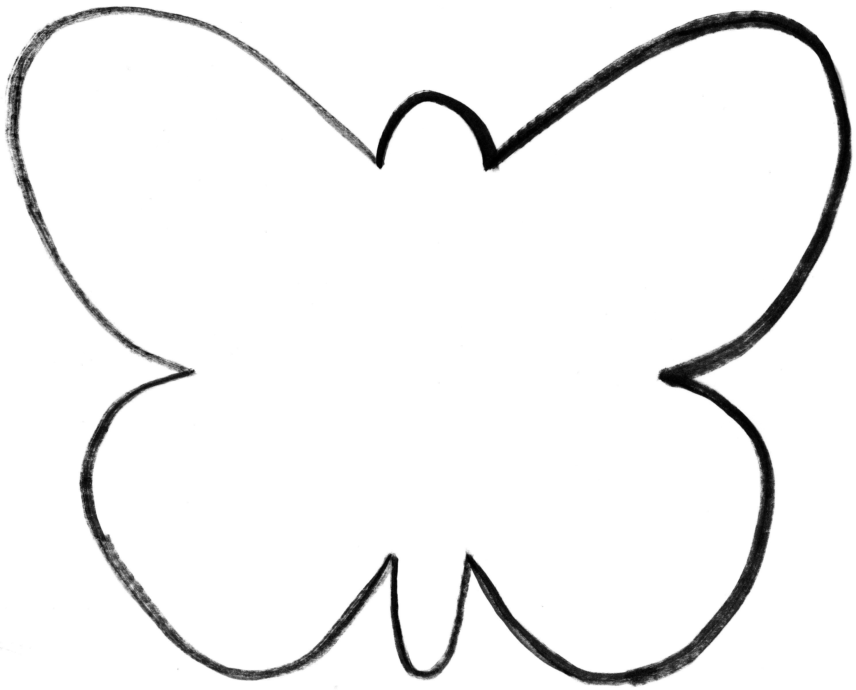 Butterflies Cut Out Template | Preschool Insects & Spiders - Free Printable Butterfly Cutouts