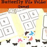 Butterfly File Folder Games: Free Printable!   Views From A Step Stool   Free Printable Math File Folder Games For Preschoolers