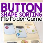 Button Shape Sorting Printable File Folder Game | Homeschool   Free Printable Math File Folder Games For Preschoolers
