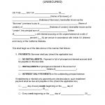 California Unsecured Promissory Note Template   Promissory Notes   Free Promissory Note Printable Form