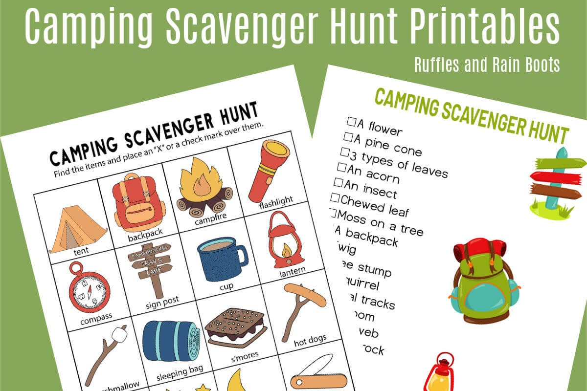 Camping Scavenger Hunt - Printables For Two Age Groups! - Free Printable Scavenger Hunt For Kids