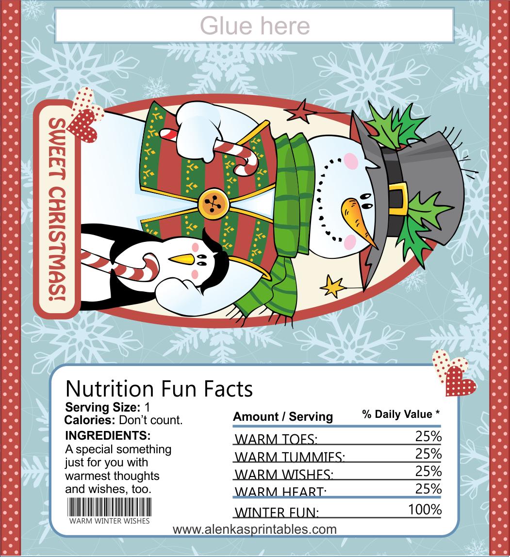 Candy Bar Wrapper Printable | Christmas Printables 7 | Candy Bar - Free Printable Christmas Candy Bar Wrappers