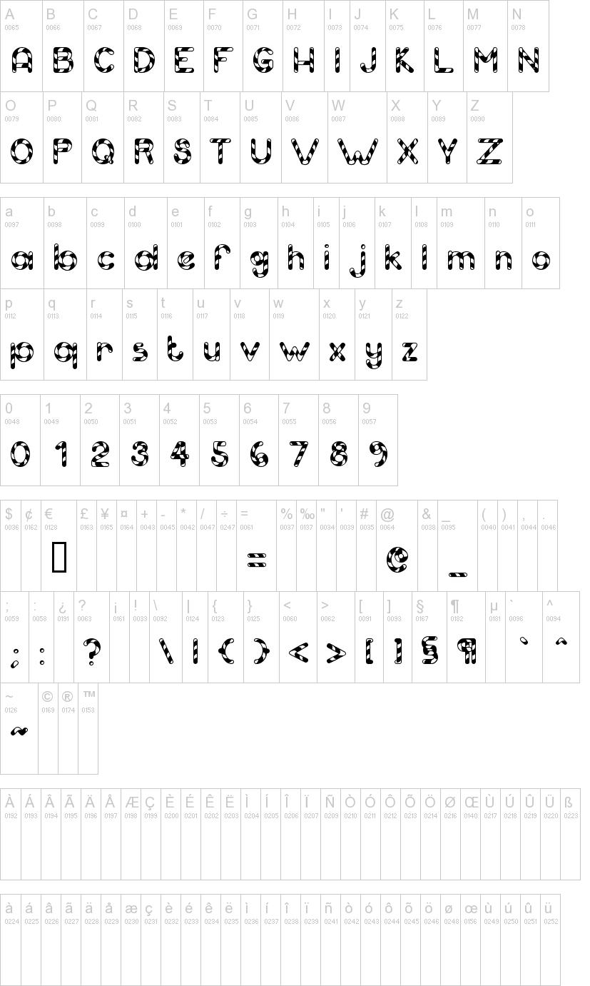 Candy Cane Font   Dafont - Free Printable Fonts No Download