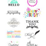 Card Creations, Vol. 11 Sentiments   Card Creations, Vol. 11   Paper   Free Printable Greeting Card Sentiments