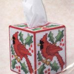 Cardinal Kleenex Tissue Box Cover Plastic Canvas Kit ~ New | For   Free Printable Plastic Canvas Tissue Box Patterns